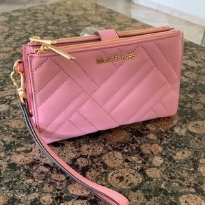 Michael Kors large double zip wallet/wristlet